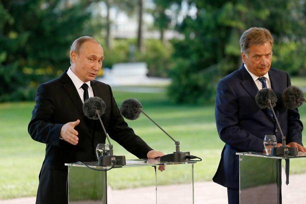 Vladimir Putin ja Sauli Niinistö tapasivat Kultarannassa viime perjantaina.