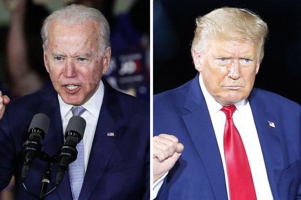 Joe Biden ja Donald Trump kamppailevat Yhdysvaltain presidentin paikasta.