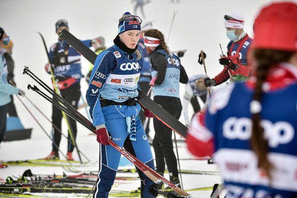 Vilma Nissisestä tuli tiettävästi ensimmäinen suomalainen huippuhiihtäjä, joka on kilpaillut fluorittomalla luistovoiteella.