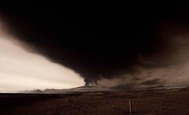 Eyjafjallajökullin purkaus vuonna 2010 lennätti taivaalle sellaisen tuhkapilven, että Euroopan lentoliikenne oli suurelta osin pysähdyksissä viikon.