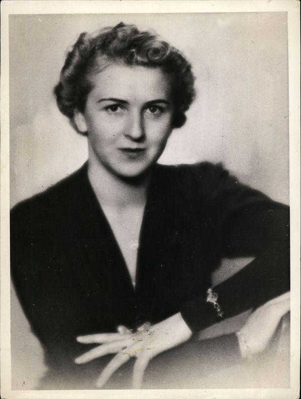 Hitlerin rakastajatar Eva Braun.