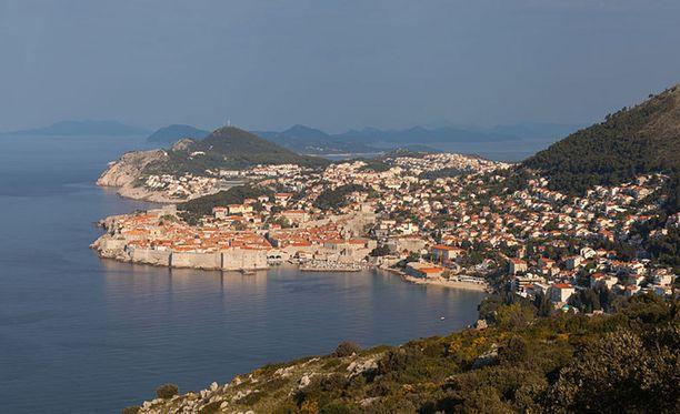 Turma sattui tiistai-iltana Dubrovnikin edustalla.