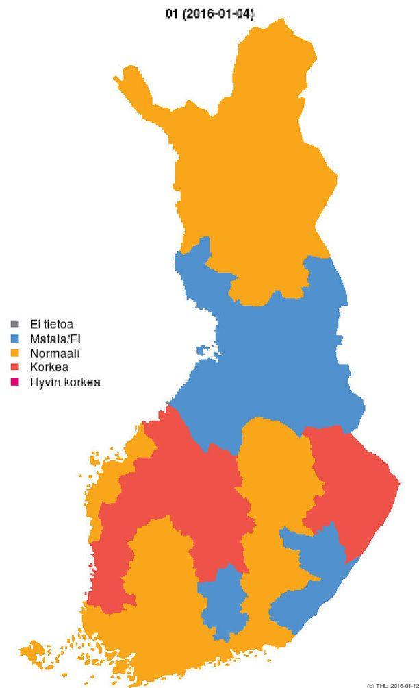 Suomen influenssatilanne tällä hetkellä