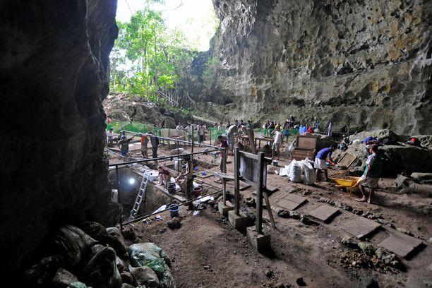Callaon luolasta Filippiineillä oli jo aikaisemmin löytynyt ihmisen jäännöksiä, uudet kaivaukset paljastivat lisää luita.