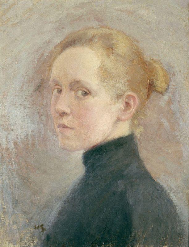 Helene Schjerfbeckin omakuva.