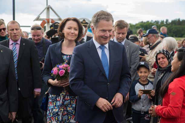 Presidentti Niinistö ja rouva Haukio on aiemminkin nähty Loirin konsertissa.