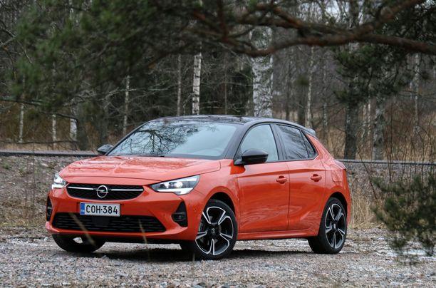 Uusi Corsa on tyylikkään näköinen moderni pikkuauto.