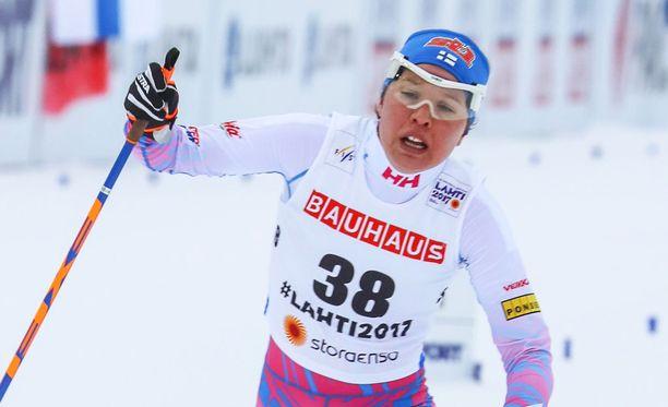Kerttu Niskanen otti niukan voiton Rovaniemellä.