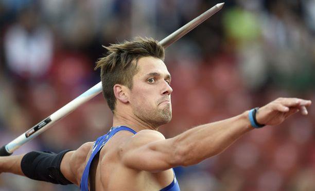 Yllättääkö Viron Magnus Kirt Lontoon keihäsfinaalissa?
