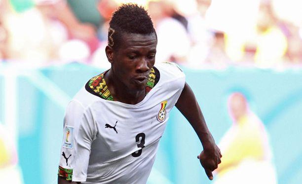 Hyökkääjä Asamoah Gyan on Ghanan tärkeimpiä pelaajia.