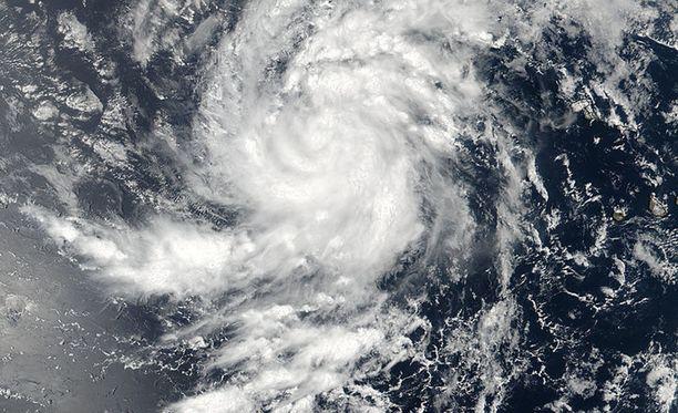Hurrikaani Irma näkyy Nasan julkaisemassa satelliittikuvassa itäisellä Atlantilla keskiviikkona 30. elokuuta.