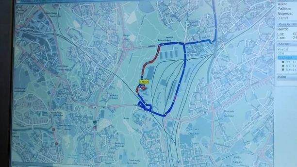 5,3 kilometrin testilenkki kulki ympäri Ilmalan postikeskusta.