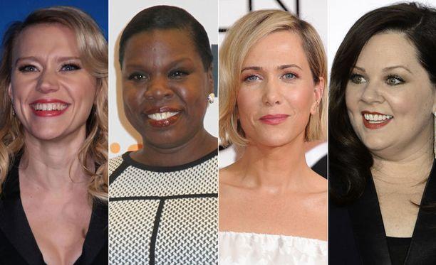 Kate McKinnon (vas.), Leslie Jones, Kristen Wiig ja Melissa McCarthy ovat uusi Haamujengi.