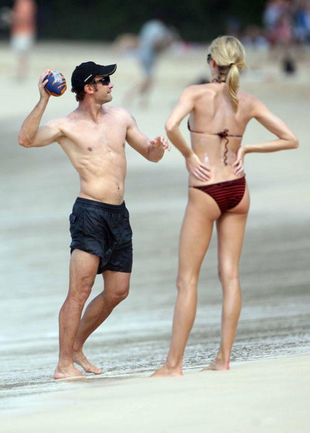 Ukrainalaispelaaja Andri Ševtšenko nautti perheineen auringosta Barbadoksella.