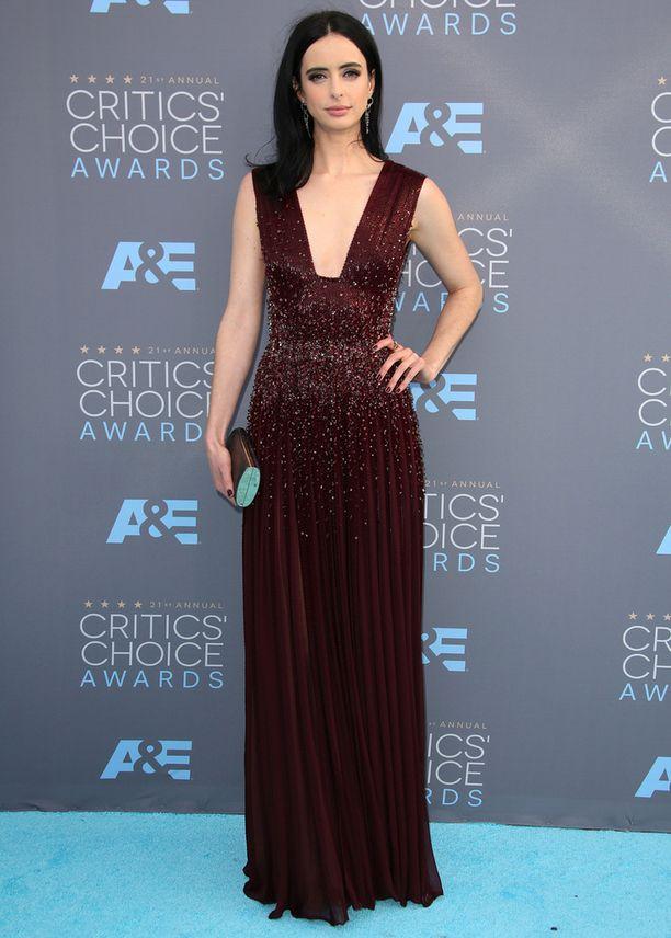 Krysten Ritter on yhdysvaltalainen näyttelijä, muusikko ja entinen malli. Hän on näytellyt niin elokuvissa kuin sarjoissakin. Hän teki pääroolin sarjassa Jessica Jones, josta on myös ehdolla gaalassa.