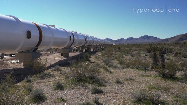 Koerataa rakentaa Hyperloop One -yhtiö.