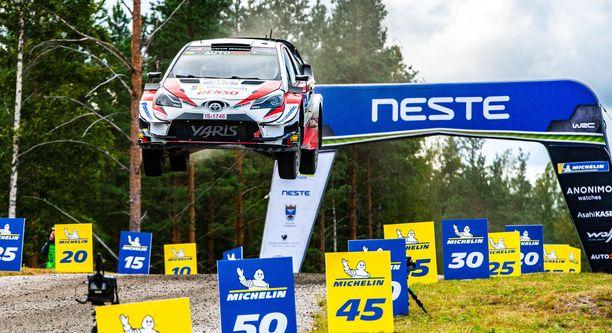 MM-ralli jatkuu uuden sopimuksen myötä vuoteen  2023 saakka. Kuvassa Jari-Matti Latvalan tyylinäyte viime vuodelta.