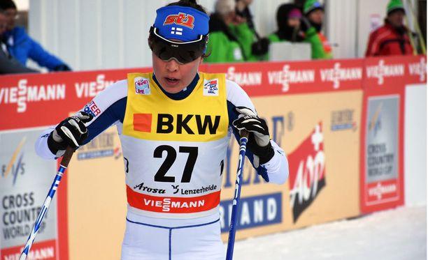 Kerttu Niskanen oli sunnuntaina neljäs Tour de Skillä Sveitsissä.