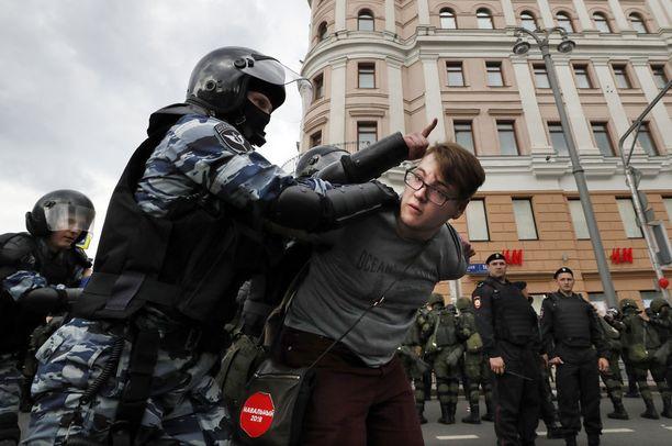 Venäjällä on ollut menneenä kesänä useita protesteja, jotka oppositiojohtaja Aleksei Navalnyi on organisoinut.