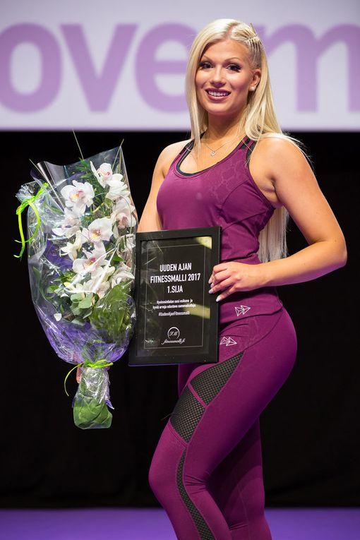 Meri Turunen valittiin sunnuntaina Fitnessmalli 2017 -kilpailun voittajaksi.