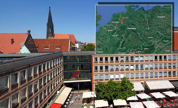 Münsterin kaupungissa asuu vajaat 300 000 ihmistä.
