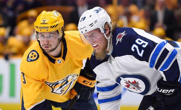 Patrik Laine on pidetty tiukasti kiinni NHL:n pudotuspeleissä, mutta siitä huolimatta hän on tehnyt kahdeksan pistettä yhdeksässä pelissä.