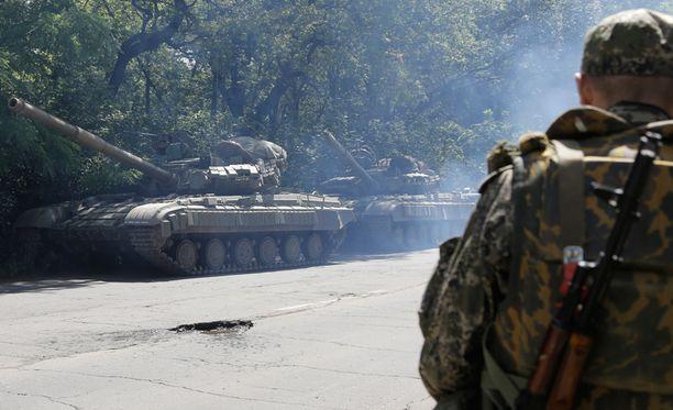Sotilaita Rostovin alueella Etelä-Venäjällä viime kesäkuussa.