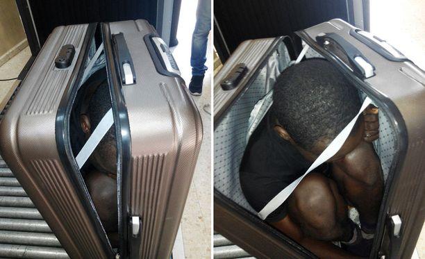 Miestä yritettiin salakuljettaa matkalaukussa Marokosta Espanjalle kuuluvaan Ceutan kaupunkiin.