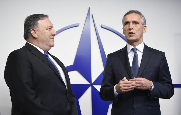 Yhdysvaltojen ulkoministeri ja Naton norjalainen pääsihteeri  ovat yhtä mieltä siitä, että Venäjä on rikkonut keskimatkan ohjuksia koskevaa INF-sopimusta.