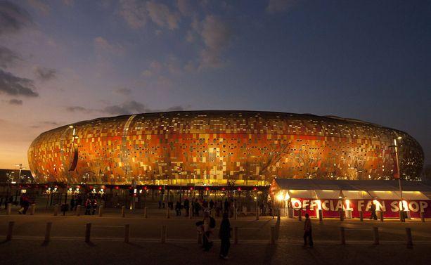FNB-stadionilla pelattiin jalkapallon MM-finaali vuonna 2010.