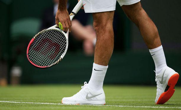 Nämä kengät menivät Roger Federerillä vaihtoon vuonna 2013.