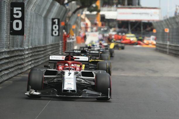 Kimi Räikkönen ei onnistunut Monacon GP:ssä.
