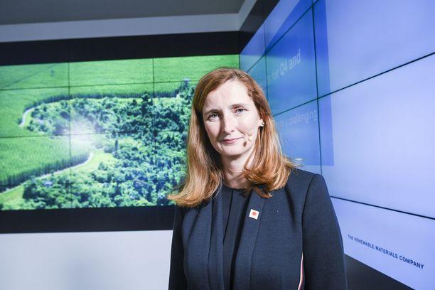 Annica Bresky aloitti nykyisessä tehtävässään Stora Enson toimitusjohtajana joulukuussa 2019. Bresky on laittanut hihat heilumaan yhtiön kannattavuuden parantamiseksi. Arkistokuva.