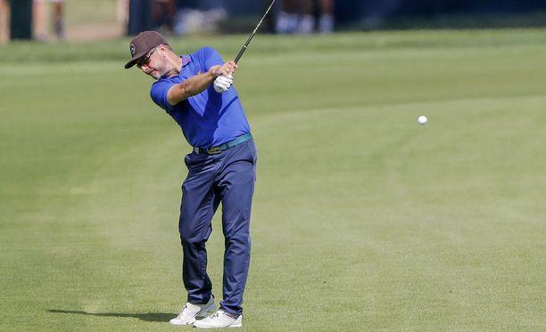 Mikko Korhosen urakka PGA Championshipissä päättyi kahden kierroksen jälkeen. Kuva torstailta.