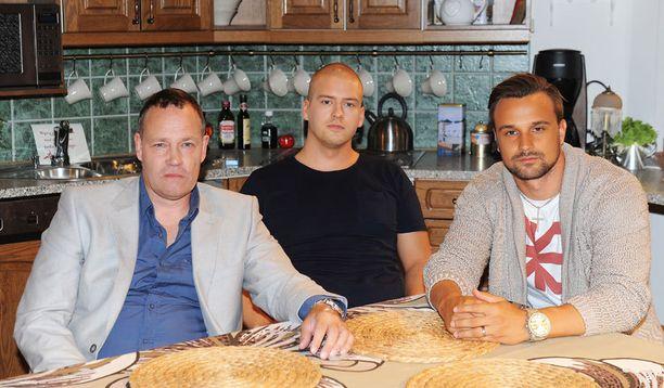 Salkkari-miehet Timo Jurkka, Markku Pulli ja Mikko Parikka.