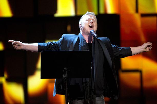 Kurt Nilsen esiintyi Nobel-konsertissa vuonna 2015.