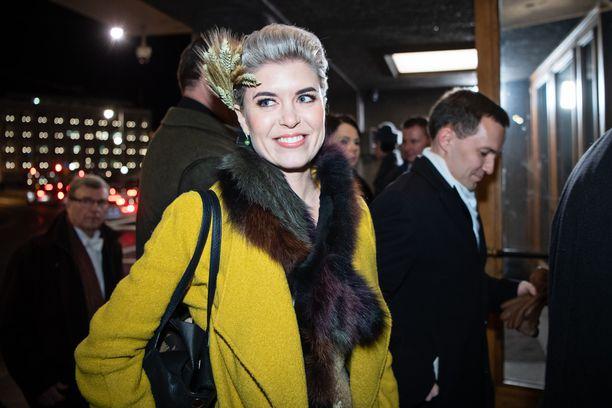 Susanna Koski saapui Linnan juhliin joulukuussa 2018.