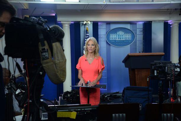 Kellyanne Conway on yksi Trumpin hallinnon näkyvimpiä henkilöitä mediassa.