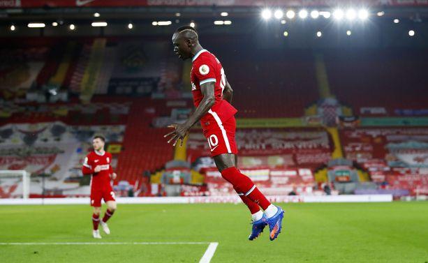 Mane tuuletti maalia Arsenalia vastaan viime maanantaina.