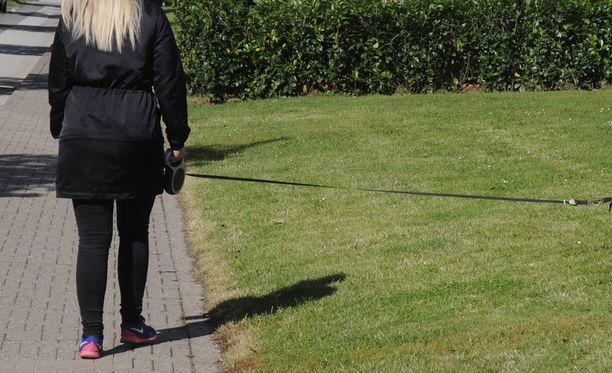 Syytetyn mukaan koiranulkoiluttaja oli flirttaillut hänen kanssaan. Todellisuudessa nainen vain tervehti. Kuvituskuva.