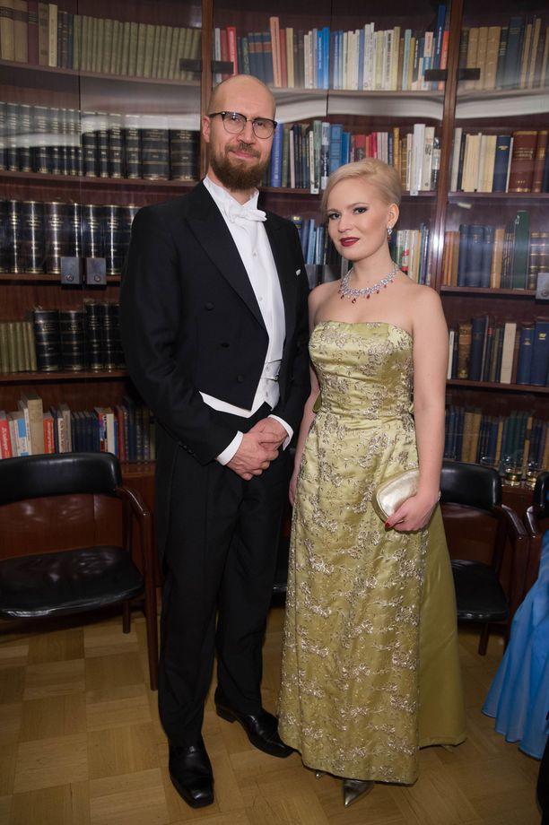 Touko Aalto ja Iris Flinkkilä edustivat yhdessä.