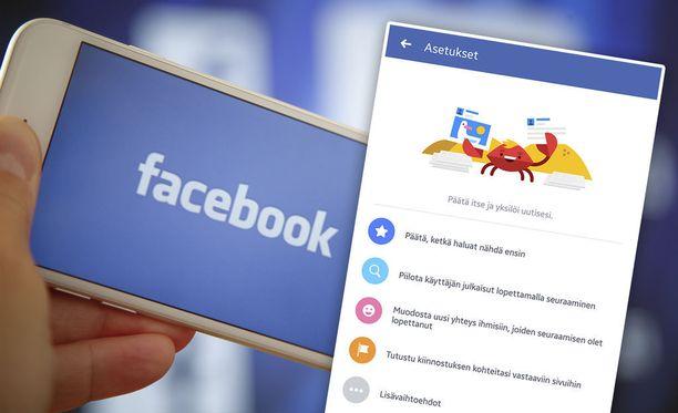 Facebookin uutissyötettä voi muokata haluamakseen.