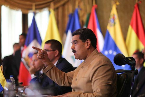 Presidentti Maduro on johtanut Venezuelaa vuodesta 2013.