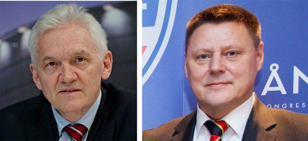 USA:n pakotelistalle joutuneen Airfix -lentoyhtiön pääomistus siirrettiin Gennadi Timtshenkolta (vas.) Kai Paanaselle.