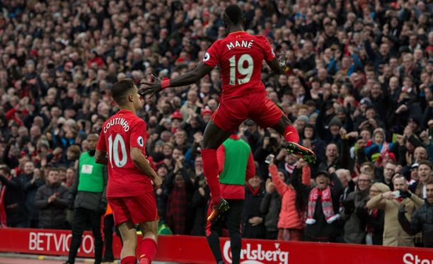 Sadio Manén komea loikka antoi vauhtia Liverpoolin murskavoitolle.