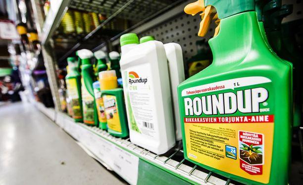 Roundup-kauppanimellä myytävä kasvintorjunta-aine on tunnetuin glyfosaattituote.