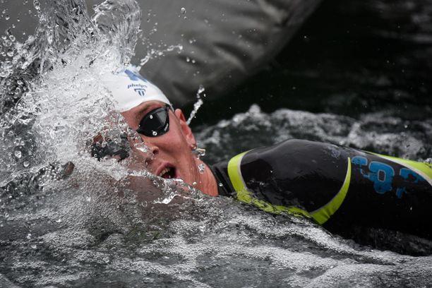 Hector Pardoe kilpailee olympialaisissa. Kuva vuodelta 2020.