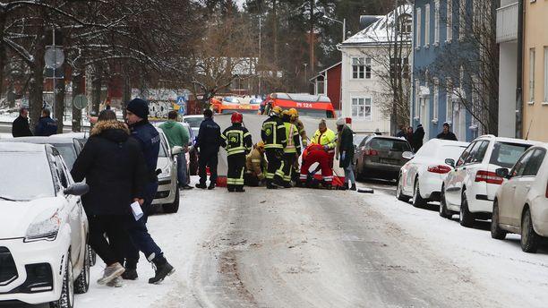 Auttajat olivat onnettomuuspaikalla nopeasti.