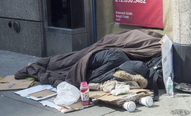 New Yorkissa elää yli 60 000 koditonta ihmistä. Kuvituskuva.