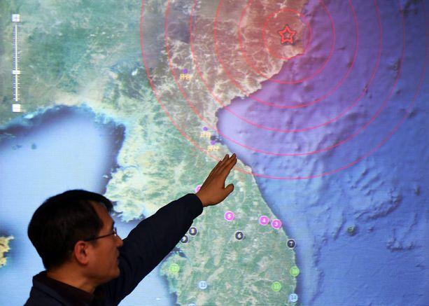 Räjähdyksen aiheuttama järistys näkyi Etelä-Korean valvontalaitteissa.